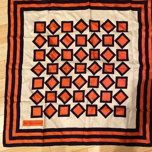 YSL Yves Saint Laurent Silk Scarf, Vintage